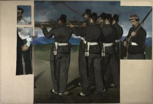 Edouard Manet 1832-1883, The Execution of Maximilian, about 1867-8. Oil on canvas. 193 x 284 cm. © The National Gallery, London