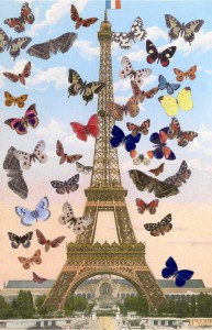 Sir Peter Blake 2009,  The Eiffel Tower, silkscreen print, 670 x 440 mm, edition of 125