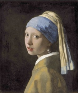 Johannes Vermeer (1632–1675), c1665: Girl with a Pearl Earring. Photo: Mauritshuis Royal Picture Gallery, The Hague