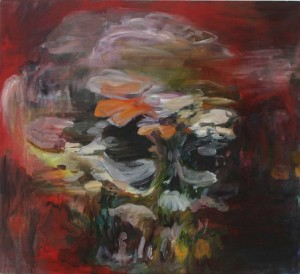 Eemyun Kang 2007, Skull-Fungal land, 110cm x 120cm, oil on canvas