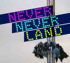 Detail of Arwa Alneami's Never never land video project