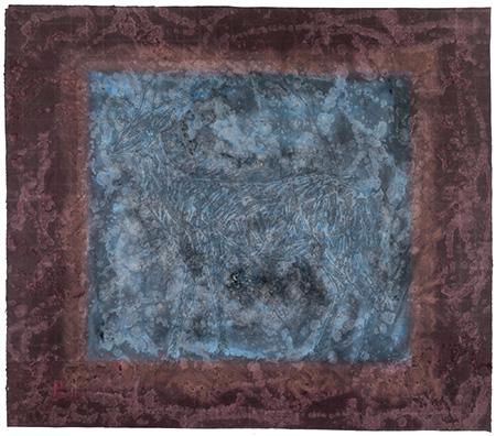 Wang Ai 2013, Deer, mixed media on rice paper, mixed media on rice paper, 131cm x 151cm