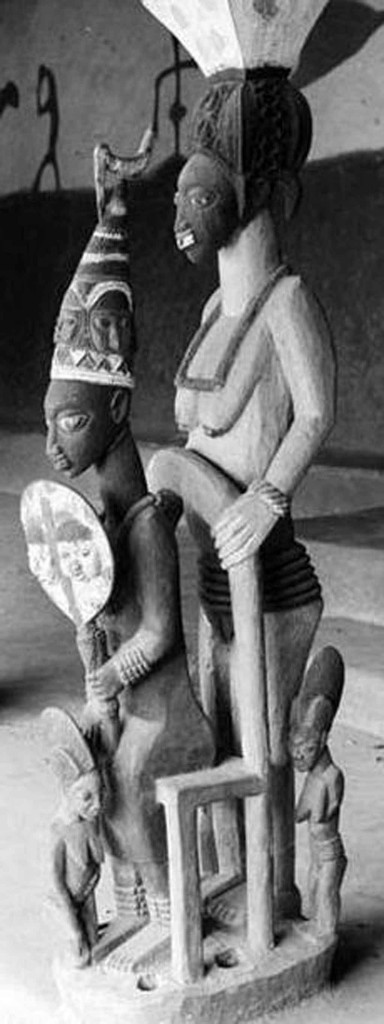 Sculpture by Olowe of Ise. Photo: The Royal Anthropological Institute via The Courtauld Institute of Art, London. See Editor's note below about Olowe