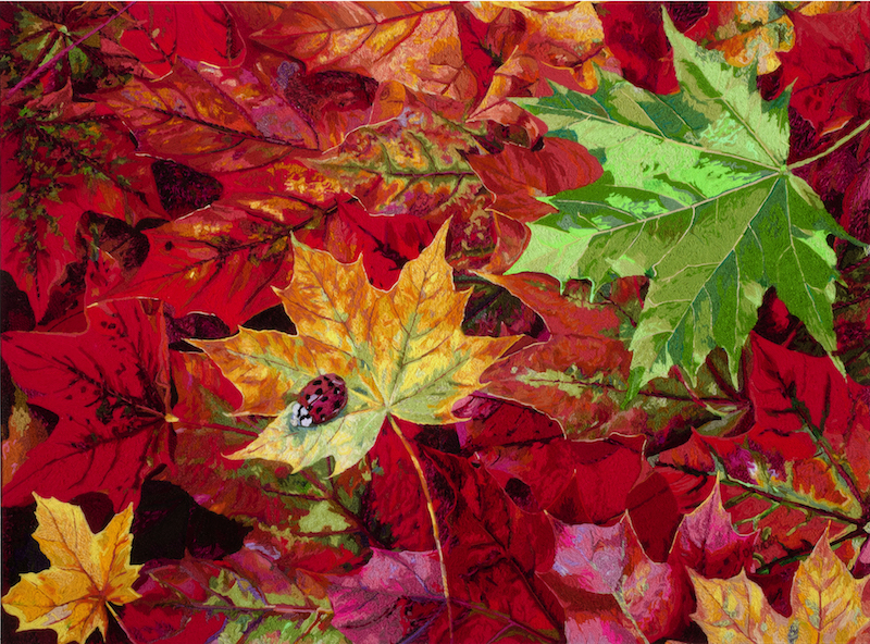 Yaw Obiubi 2013: Autumn Leaves. 92x122cm. Photo: Gallery of African Art
