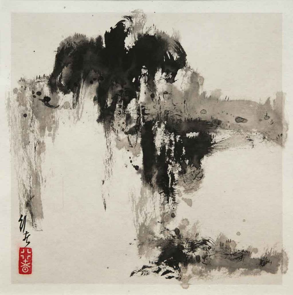 Cheng Ping Gang 2017: Verve series, Chinese ink on xuan rice paper, 26cm x 26cm